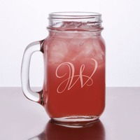 Engraved Mason Jars with Handle 16 oz