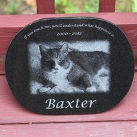 Custom Engraved Granite Oval - 11 x 8.5
