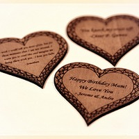 Laser Engraved Wooden Heart