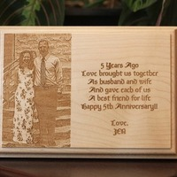 Custom Engraved Wooden Plaque - Landscape