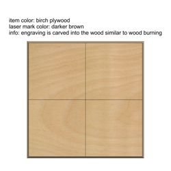 Set of 4 Wood Squares Thumbnail