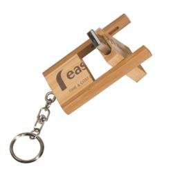 Engraved Bamboo Flip Style USB Flash Drive (4 GB) Thumbnail
