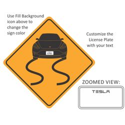 Tesla Sign Sticker Thumbnail
